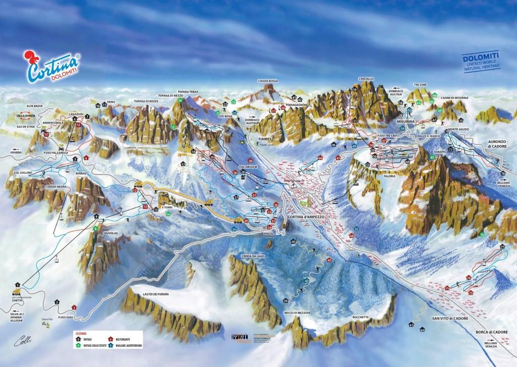Cortina d´Ampezzo. Zdroj: google.com